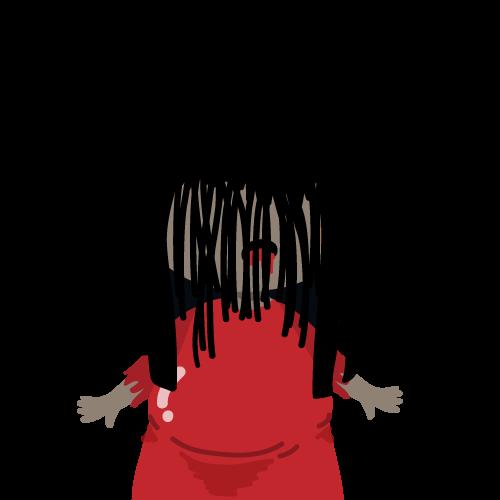粹究美學妖獸美-紅衣小女孩