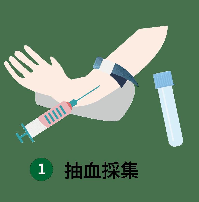 異體真皮粉與PRP步驟-採血