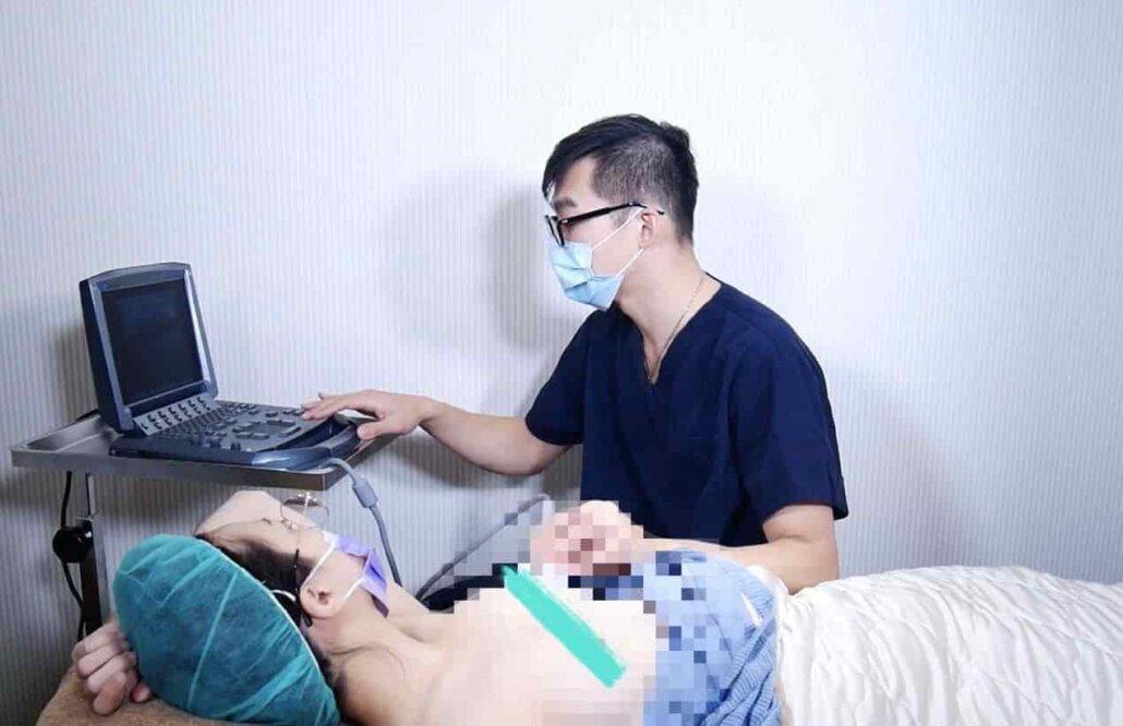 mentor曼陀水滴隆乳術前超音波檢查